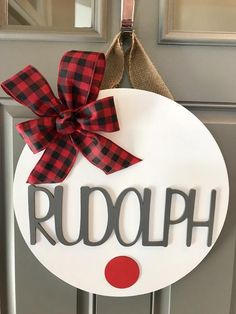 Your place to buy and sell all things handmade : Reindeer Door Hanger Rudolph Decor Christmas Door Hanger Blue Christmas, Christmas Signs, Diy Christmas Ornaments, Winter Christmas, All Things Christmas, Holiday Crafts, Christmas Time, Christmas Wreaths, Christmas Door Hangers