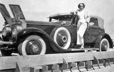 Marlene Dietrich with her  1930 Rolls-Royce Phantom I Transformal Phaeton with Coachwork by Hibbard & Darrin (Paris).