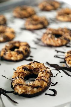 You're seeing it right. Those are homemade Samoas and they are so delicious!