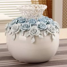 Hot-selling home decoration handmade ceramic flower vase wedding gift - Ceramic Fish, Ceramic Art, Wine Bottle Crafts, Bottle Art, Small Flower Pots, Clay Wall Art, Pottery Painting Designs, Clay Art Projects, Vase Crafts