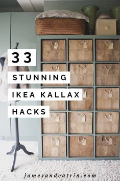 Does your Ikea Kallax need a make-over? Look at this 33 stunning Ikea Kallax hacks! IKEA Hacks That Might Ikea Hacks, Diy Hacks, Ikea Kallax Hack, Storage Hacks, Storage Ideas, Ikea Storage, Toy Storage Solutions, Home Decor Furniture, Diy Home Decor