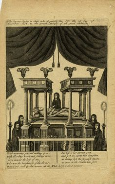 Recto Mary II lying in state, with five mourners. Engraving © The Trustees of the British Museum William And Mary, British Museum, Gallery, Movie Posters, Art, Art Background, Roof Rack, Film Poster, Kunst