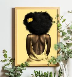 Black Art Painting, Black Wall Art, Black Artwork, African American Artwork, African Wall Art, African Artwork, American Women, Art Mural Africain, African Themed Living Room