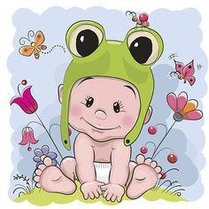 Osito de peluche de historieta bebé - ilustración de arte vectorial