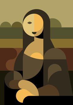 """""""Mona Lisa"""" - Dennis Bennett, 2011 {modern art female seated woman digital graphic i. Arte Pop, Art Et Illustration, Inspiration Art, Art Moderne, Art Design, Geometric Art, Geometric Painting, Art Plastique, Art History"""