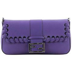 b4f3986bacc5 Fendi Baguette Whipstitch Leather