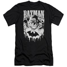 BATMAN/BAT METAL - S/S ADULT 30/1 - BLACK -
