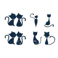 Sweet Kissing Cat Pattern Waterproof Tattoo Sticker For Women