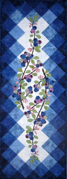 Berry Blues Tablerunner Kit-Wildfire Designs Alaska
