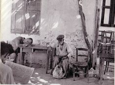 Old Greek, Greece Photography, Samar, Rare Photos, The Past, Black And White, Pets, Gallery, Painting