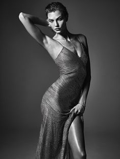 Karlie poses in Jason Wu.  Photograph by Mario Sorrenti; styled by Edward Enninful; W magazine March 2014.