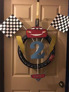 DIY Disney Cars Wreath                                                       …