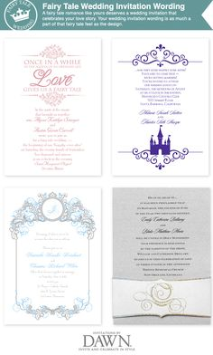 fairy tale wedding invitation wording from www.invitationsbydawn.com