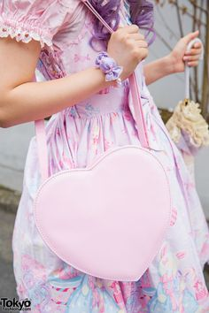 Summer fairy kei outfit. Love the purse & the dress