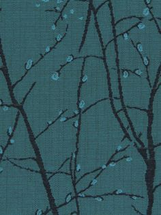 Turquoise Upholstery Fabric With Trees Woven Blue Furniture Fabric Turquoise Home Decor Fabric For Throw Pillows And Headboards