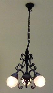 Dollhouse Miniature Victorian 3 Arm Filligree Chandelier Hanging Light Electric | eBay
