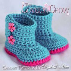 Ravelry: Kimono Flower Crocheted Baby Shoes Pattern pattern. ADORABLE #babygirlfashion #crochetboots