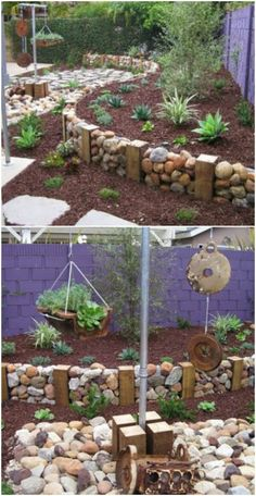 Fall is my favorite time for DIY outdoor projects. It's no … … - Diy Garden Projects Garden Edging, Garden Beds, Fence Garden, Outdoor Projects, Garden Projects, Diy Projects, Landscaping With Rocks, Backyard Landscaping, Landscaping Ideas