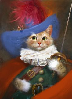Chat mousquetaire.