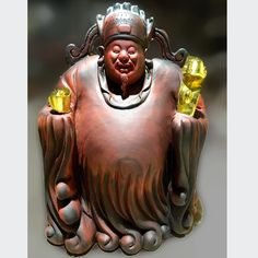 Thần Tài gỗ hương dát vàng  Kích thước: 80-60-30 cm  Nặng khoảng 60 kg 60 Kg, Buddha, Batman, Statue, Superhero, Fictional Characters, Fantasy Characters, Sculptures, Sculpture
