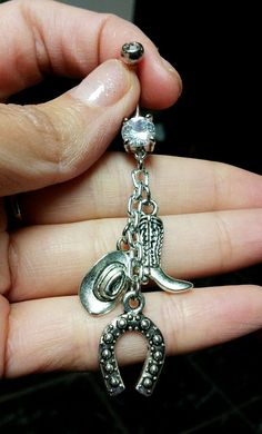 Fancy Cowgirl Belly Ring on Etsy, $12.79 CAD Cute for those who have belly button rings