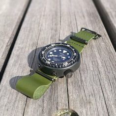 "1 ""Μου αρέσει!"", 1 σχόλια - G. (@greenstraps) στο Instagram: ""Thank you Alex from #Sweden for the beautiful picture #greenstraps #seiko #seikodivers #leathers…"""