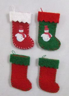 Hand stitched Christmas stockings for the mantle piece or bottom of the bed.