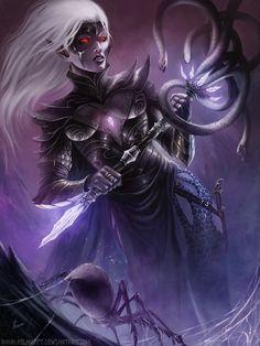 Quenthel Baenre - Head Priestess of Lolth - via:Deviant Art by HELMUTTT