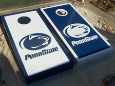 Hand Painted Penn State Cornhole Boards by mkhew2 on Etsy, $200.00