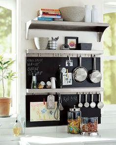 Love this chalkboard wall #kitchen
