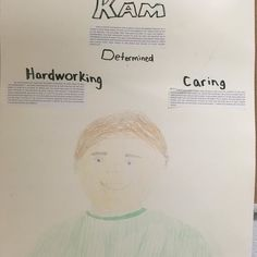 Here's how students at Incarnation School pictured the main character Kam when they read 7 Riddles to Nowhere. I think their adjective choices are pretty spot on too! I was seriously impressed by these kids' work so I'll be sharing more photos in upcoming posts.