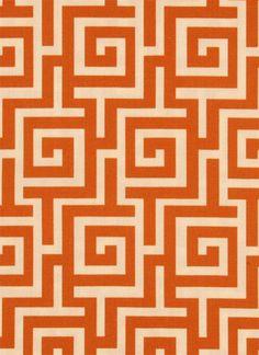 Orange outdoor fabric
