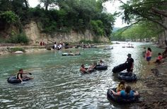 The guadalupe or the comal.  Either one are heaven on earth on a hot Texas day!