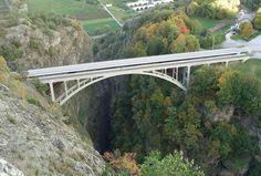 Valais - Gueuroz bridge (187 m high)