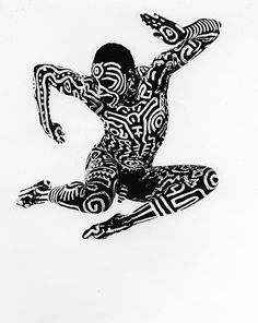 Bill T. Jones Body Painting with Keith Haring