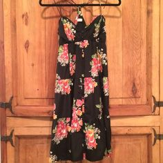 Floral Silky Sun Dress Silky material, very lightweight, great condition, perfect for summer! Not Brandy, for dress exposure :( Brandy Melville Dresses Midi