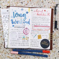 |#longweekend| 這個週末連放三天,但要忙著整理房間所以沒太多時間玩樂或畫畫…… #travelersnotebook #diary #手帳