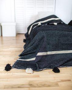 Camargue. Pom Pom Blanket - Hawazine Rugs