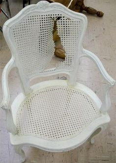 Re-caning a chair