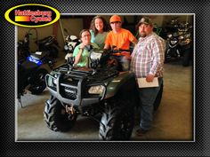 Thanks to Tonya, Ariel, Austin and Ric Fairley from McLain MS for getting a 2013 Honda Foreman. @HattiesburgCycles