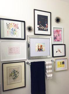 Kate Spade Bathroom Gallery Wall (via Bloglovin.com )