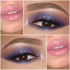 purple and pink Eyeshadow Crease, Purple Eyeshadow, Pencil Eyeliner, Grey Eye Makeup, Fall Makeup, Mac Media Lipstick, Nyx Lip Pencil, Mac Studio Fix Foundation