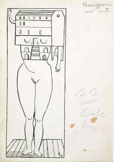 Louise Bourgeois Femme-Maison-1947