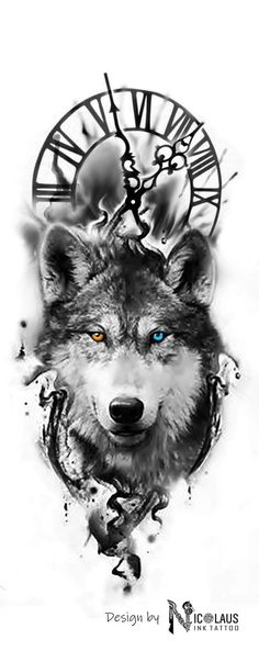 Wolf - tattoo - - My list of the most creative tattoo models Wolf Tattoo Design, Tribal Wolf Tattoo, Wolf Tattoo Sleeve, Deer Tattoo, Sleeve Tattoos, Tattoo Wolf, Chest Tattoo, Arrow Tattoo, Wolf Design