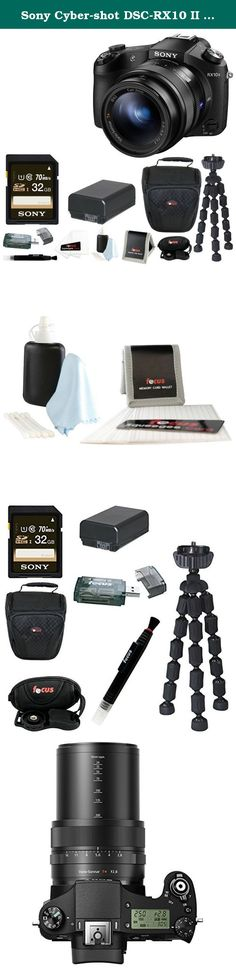 """Sony Cyber-shot DSC-RX10 II Digital Camera with Sony 32GB SD Card + Replacement NP-FW50 Battery and SLR Case + Deluxe Accessory Bundle. Sony's Cyber-shot DSC-RX10 II Digital Camera is a compact, high-performance point-and-shoot that provides 20.2 MP and UHD 4K video capabilities. The RX10 features a revolutionary new design, utilizing a stacked-type 1"""" Exmor RS CMOS sensor with a DRAM chip and backside-illuminated technology in order to create images of incredible sharpness and clarity…"""