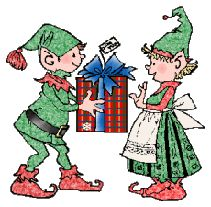 Elf Clipart for Christmas!