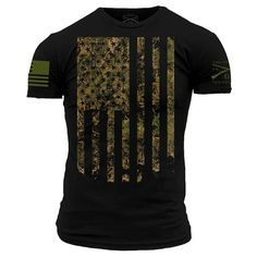 In response to the popular demand for the Camo Flag in black. Show your love for our country and the outdoors with Grunt Style's Camo Flag, made of cotton and now available in black! Camo Shirts, Tee Shirts, American Fighter Shirts, Online Shopping Usa, Grunt Style, Tactical Clothing, Country Outfits, Denim Shirt, Shirt Style