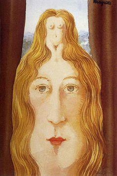 René Magritte - Silhouette de Jeune Fille Nue René Magritte 1898 - 1967  More @ FOSTERGINGER At Pinterest