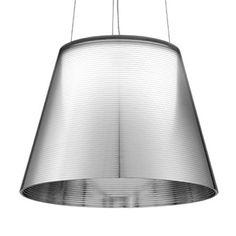 Ktribe S2 pendel, aluminisert sølv, Flos, Philippe Starck