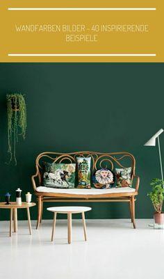 wandfarben bilder dunkel grüne wandfarbe #einrichtungsideen schlafzimmer natur Wandfarben Bilder - 40 inspirierende Beispiele
